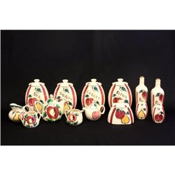 Purinton pottery Slipware cereal set  Fruit