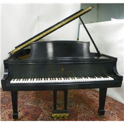 "Steinway Model ""L"" grand piano with bench"