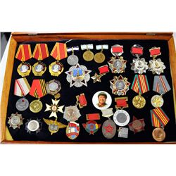 Group lot of Russian & Chinese War medals
