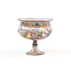 19th c. Russian enameled goblet