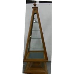 Pyramid display case
