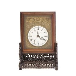 Double spring wind Fusee bracket clock