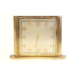 Tiffany & Co. Art Deco bronze desk clock