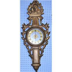 "Italian gilt wood clock with ""Birds"""