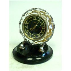 Russian Deco crystal Majak clock