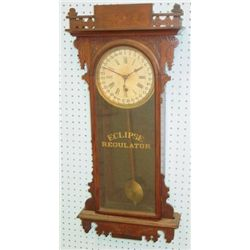 19th c. Eclipse regulator calendar clock