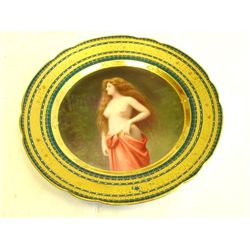 19th c. Royal Vienna plate signed Wagner