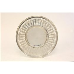Sterling silver reticulated plate Theodore B Starr