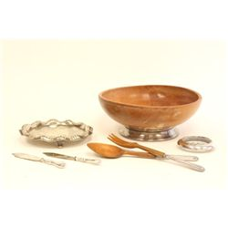 Group lot of sterling silver & silver plate