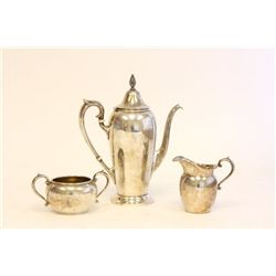 3 piece sterling silver Gorham tea set