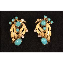 Pair 14kt yellow gold earrings