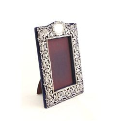 Sterling silver mounted picture frame