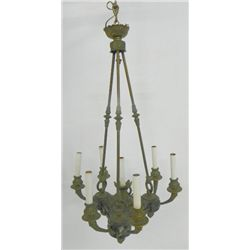 Antique French marble and ormolu chandelier