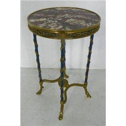 French marble top and ormolo Gueridon table