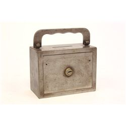 Late 19th/early 20th c. Iron coin bank
