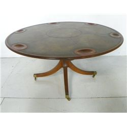 Regency style pedestal game table