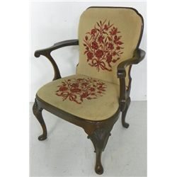 Queen Ann 2 shell library arm chair