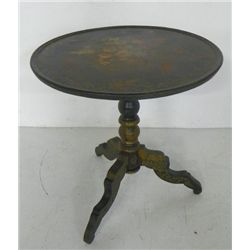 Paint decorated & stenciled tilt top table