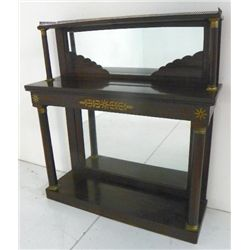 Regency rosewood brass inlaid console