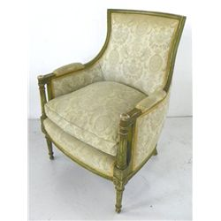 Louis XVI painted Bergere chair