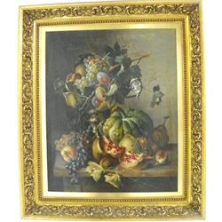 Gilt framed oil painting signed S. Hollub