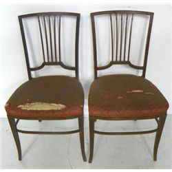 Pair rosewood Colonial Revival side chairs