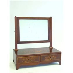 Dutch marquetry mirrored shaving stand