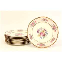 Set of 10 Castleton China plates