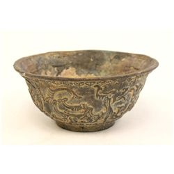 Chinese antique bronze signed bowl
