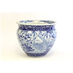 Antique Japanese blue & white porcelain planter