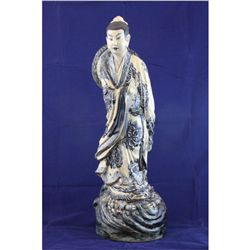 Chinese blue & white porcelain  Woman