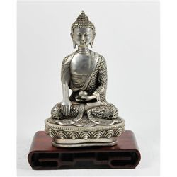 Chinese silvered figure of Buddha