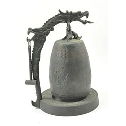 "Rare bronze Qing style ""Dragon Bell Gong"""