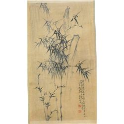 "Chinese scroll painting of ""Bamboo"""