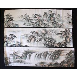 "3 Chinese ""Landscape"" hand scrolls"