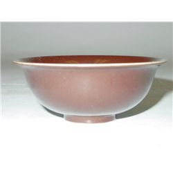 Chinese brown glazed pottery bowl