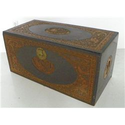 Oriental carved chest