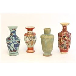 Lot of 4 Oriental vases