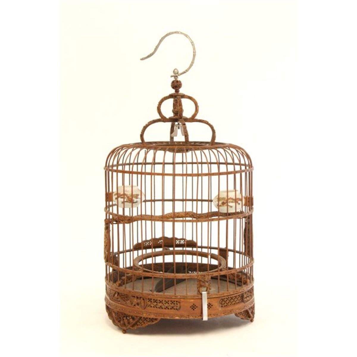 Asian carved bird cage