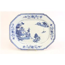 Early 19th c. blue & white plate