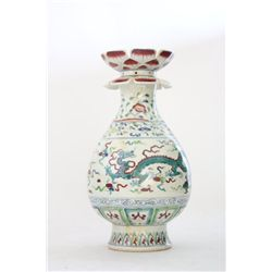 Handpainted Chinese porcelain vase