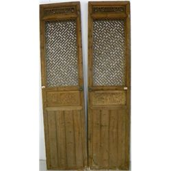 Pair Chinese carved doors