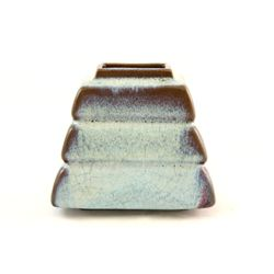 Chinese pottery aqua & brown pen washer