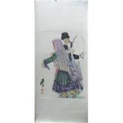 "Chinese scroll of ""2 Dancers"""