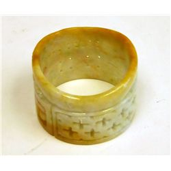 Jadeited carved design bangle