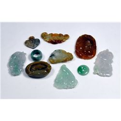 Group of jade pendants