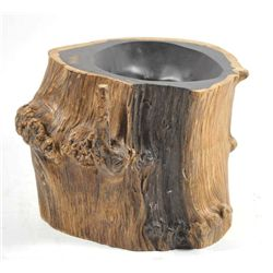 """Tree Trunk"" brush pot"