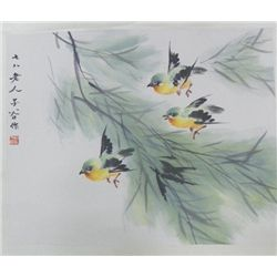 "Chinese scroll of ""Birds in Flight"""