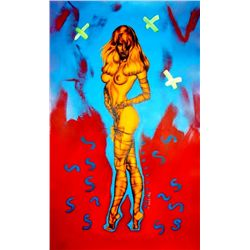 CELEBRITY NUDE CANVAS PAINTING POP ART