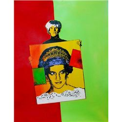 PRINCESS DIANA WARHOL COLORFUL CANVAS STYLE PAINTING ORIGINAL